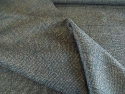 100% Pure New Wool in a Teal Shade with Windowpane AC56